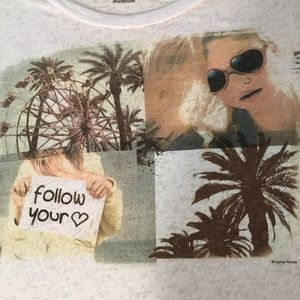 Vintage 90s Follow Your Heart Crop Tee